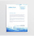 creative blue business letterhead design vector image vector image