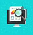 credit score online report research document vector image vector image