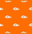 cute clown fish pattern seamless vector image vector image