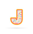 dots and letter j logo with circles and stroke vector image vector image