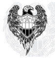 eagle wing armor black line vector image