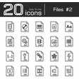 files icon set 2 vector image