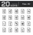 files icon set 2 vector image vector image