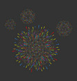 fireworks dark background christmas new year vector image