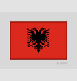 flag of albania national ensign aspect ratio 2 to vector image