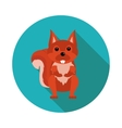 flat icons squirrel vector image