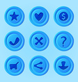 game ui menu blue elements - set for mobile game vector image vector image