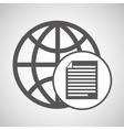global digital paper network design vector image vector image