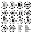 grayscale set of typical food alergens for vector image vector image