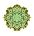 Green art mandala vector image
