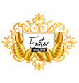 happy easter day festival design vector image