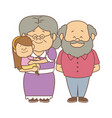 happy grandparents standing with their vector image vector image