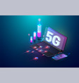 isometric 3d 5g new wireless internet wifi vector image vector image