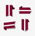 latvian flag stickers and labels vector image vector image