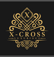 letter x logo - classic luxurious style logo vector image
