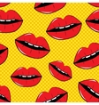 Lips Seamless Pattern Background in Pop Art Style vector image