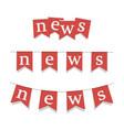 news posters set symbol news sign vector image