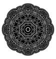 ornamental black mandala vector image