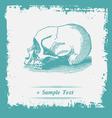 Paper art Human Skulls vector image vector image