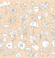 pattern autumn vector image vector image