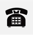 phone icon retro old means of communication vector image