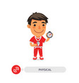 physical education teacher vector image vector image