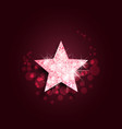 pink star vector image
