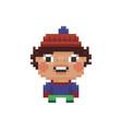 pixel art kid vector image vector image