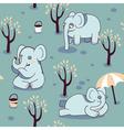 playful elephants vector image vector image