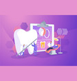 private dentistry concept vector image