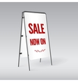 Sandwich board isolated vector image