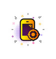seo phone icon smartphone targeting sign traffic vector image vector image