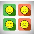 set basic emotions in flat icon design vector image