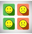 Set of basic emotions in flat icon design vector image
