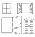 set of window vector image vector image