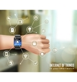 Smart Watch On Hand Concept vector image