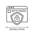 social network account security pixel perfect vector image