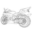 sport motorcycle technical wire-frame eps10 vector image vector image