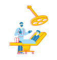 surgeon characters holding scalpel prepare to make vector image vector image