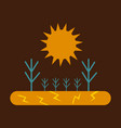 the lack of fertile soil causes the trees to die vector image vector image