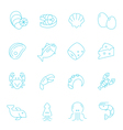 Thin lines icon set - raw food material vector image vector image