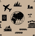 Tourism seamless pattern vector image vector image