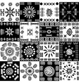 Tribal background set of ethnic elements vector image vector image