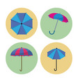 umbrella icons set vector image