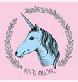 unicorn wreath vector image