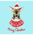 Watercolor christmas deer vector image vector image