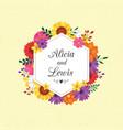 wedding floral wreath vector image