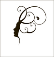 woman face silhouette profile vector image