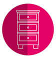 wood drawer isolated icon vector image