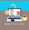 work from home eps10 vector image vector image